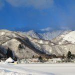 雪が止んだ朝の風景